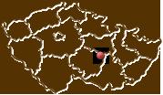 Mapa ČR s polohou obce Vír označenou puntíkem